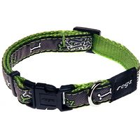Rogz Fancy Dress Collar - Lime Bone Medium